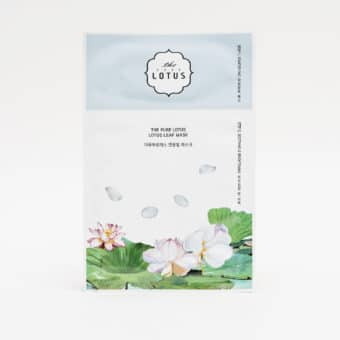 The Lotus Lotus Leaf Mask Soothing & Brightening